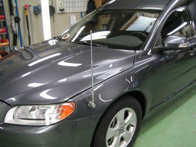"Volvo V70 Hearse with car flagpole ""Exclusive"""